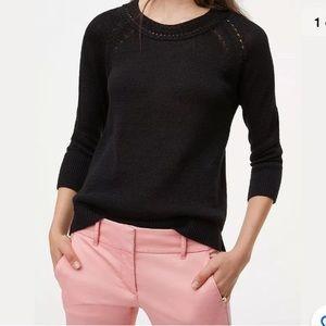 Ann Taylor LOFT Pointelle 3/4 Sleeve Sweater